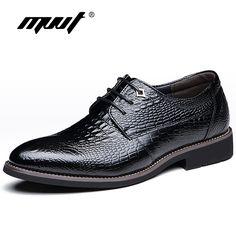 MVVT Vestido Estampado de Cocodrilo Genuino de Los Hombres Zapatos Zapatos de Cuero Formales Zapatos de Moda Británica de Los Hombres Zapatos Oxfords