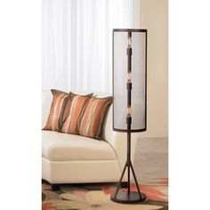 Franklin Iron Works Drummond Bronze Floor Lamp