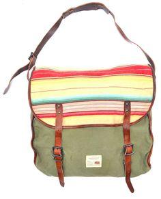 940fb69447fd Polo Ralph Lauren Denim   Supply Leather Canvas Messenger Shoulder Bag   RalphLauren  MessengerShoulderBag