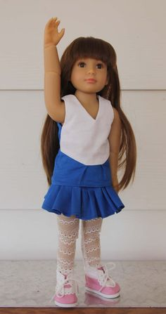 Cheerleader Pattern for slim 18 inch dolls by windwoman21 on Etsy