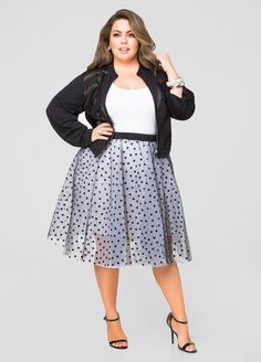 Polka Dot Tulle Skirt