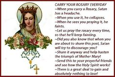 The Rosary is the real weapon. Love you Mama Mary. Praying The Rosary, Holy Rosary, Rosary Catholic, Catholic Prayers, Rosary Prayer, Catholic Religion, Catholic Quotes, Religious Quotes, Jesus Mother