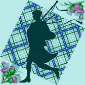 bagpipe : Scottish bagpiper on the background of plaid and thistle flowers Scottish Bagpipes, Thistle Flower, Royalty Free Images, Stock Photos, Flowers, Plaid, Icons, Scotland, Gingham