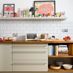 Open shelving | hand crafted kitchen | kitchen makeover | PHOTO GALLERY | Ideal Home | Housetohome
