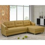 $1348.99  Chelsea Home Furniture - Blended Leather 2 Pc. Sectional, Armless Sofa And Chaise In Honey - 3627-H