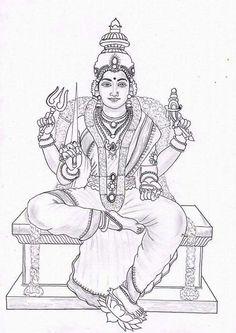 Ideas Vintage Art Paintings Canvases For 2019 Outline Drawings, My Drawings, Pencil Drawings, Mural Art, Murals, Mural Painting, Krishna Art, Krishna Drawing, Lord Murugan Wallpapers