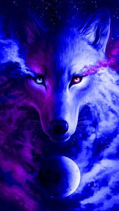 Animal Wallpaper for Android Cell iPhone - Anime Wolf Mystical Animals, Mythical Creatures Art, Fantasy Creatures, Wolf Wallpaper, Animal Wallpaper, Tree Wallpaper, Iphone Wallpaper, Galaxy Wallpaper, Mobile Wallpaper
