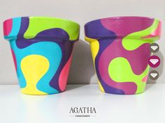 Splash❤ Flower Pot Art, Flower Pot Design, Flower Pot Crafts, Flower Pot People, Clay Pot People, Painted Plant Pots, Painted Flower Pots, Clay Pot Projects, Clay Pot Crafts