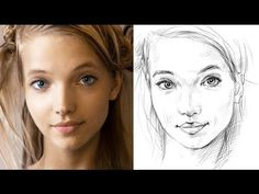 How to Draw a Face Accurately - Exercises to Improve Your Drawing Painting & Drawing, Watercolor Paintings, Drawing Drawing, Drawing Faces, Drawing Tips, Drawing Journal, Watercolor Portraits, Art Visage, Art Tutorials