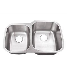 belle foret bfm108rv double bowl kitchen sinkstainless - Menards Kitchen Sinks