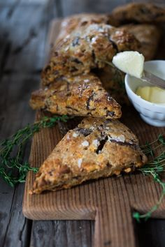 Savory Cheddar Scones with Rye, Caraway & Caramelized Onions