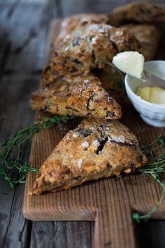 Smokey Cheddar Scones with Rye, Caraway & Caramelized Onions | www.feastingathome.com