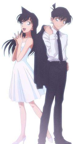 Mouri Ran & Kudo Shinichi Detective Conan Shinichi, Manga Detective Conan, Ran And Shinichi, Kudo Shinichi, Conan Movie, Detektif Conan, Manga Anime, Anime Guys, Magic Kaito