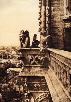 Le Stryge (oiseau de nuit) de Notre Dame de Paris, 1853, Charles Nègre.