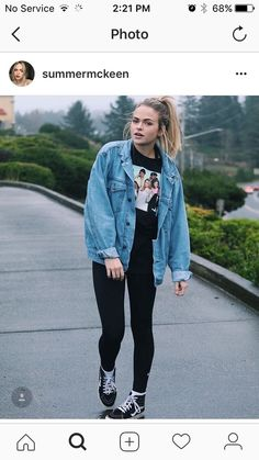 just posted my new video! link in my bio (can u tell I like my denim jacket?) The post just posted my new video! link in my bio (can u tell I like my denim jacket?) appeared first on Best Jeans. Mode Outfits, Fall Outfits, Fashion Outfits, School Outfits, Denim Fashion, Summer Outfits, Fashion Kids, Fashion Models, Vintage Clothing