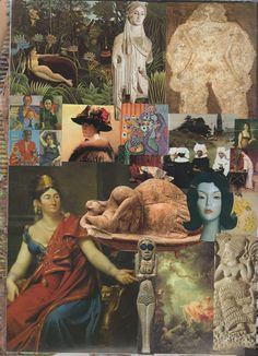 International Women's Day! A collage of women in art, part 1 of 2 - some of my fav-o-rite images