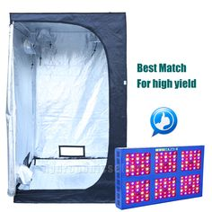 MEIZHI Reflector 900W LED Grow Light+48u0027u0027x48u0027u0027x78u0027u0027 Grow Tent Hydroponic Indoor  sc 1 st  Pinterest & LAB200-S Grow Tent (200x100x200cm) | Grow tent Tents and Grow lights