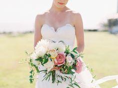 Photography : Valentina Glidden Read More on SMP: http://www.stylemepretty.com/2016/12/14/pink-laguna-beach-wedding/