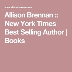 Allison Brennan :: New York Times Best Selling Author | Books