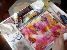 Art Journal Background Layers pt 1