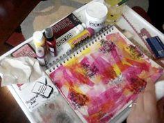 Art Journal Background Layers pt 1