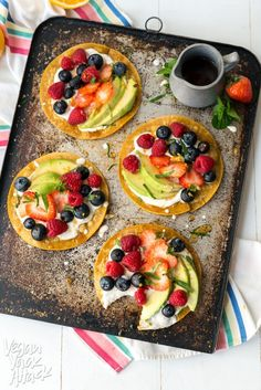 Sweet Breakfast Tostadas | #Sweet #Vegan #Breakfast #Recipes
