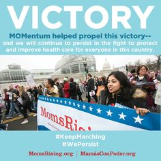 We persisted—and it worked! Today we won a major health care battle!The U.S. House just pulled the incredibly destructive American Health Care Act (AHCA) from the floor because they didn't have the votes to pass it. VICTORY!!!! This bill would have cut 24 million people off health care. But we persisted, spoke out, and won! Over the last 3 months you called, wrote letters, showed up at town hall meetings, and shared your health care stories.