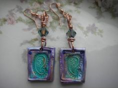 Paisley Earring by BlueOpera on Etsy, $18.00