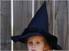 Not so little one wants to be a witch for Halloween.  This will be way cuter than buying a cheap witch hat at the costume store!