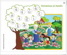 """""""Las vocales"""" (Nuevo jardín de las letras. Lectoescritura. Consonantes 1. Cuadrícula. 5 años. Algaida +)"""