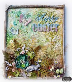 Couture Creations: Happy Easter Canvas By Sue Smyth