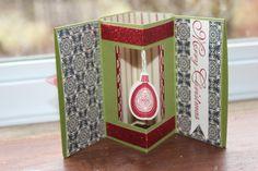 Inside view of fancy folds card
