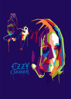 """Beautiful """"Ozzy Osbourne"""" metal poster created by Gumilar Pratama Adiatna. Our Displate metal prints will make your walls awesome. Rock Bands, Rock And Roll Bands, Rock N Roll, Pop Art Artists, New Artists, Woodstock, Heavy Metal, Hard Rock, Funny Caricatures"""