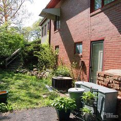 Side yards are another commonly overlooked space. With a little planning, you can make something out of the narrowest of spaces./