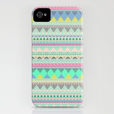 Pastel Aztec iphone cover by Vasare Nar http://society6.com/VasareNar/PASTEL-AZTEC_iPhone-Case