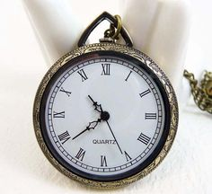 Medium Size Pocket Watch with free Necklace Chain  by ministore, $4.40