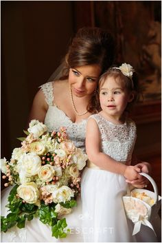 Neo-classical goodness right here. I love it when we can capture a quite moment between a bride and her flower girl. It's not always so easy!
