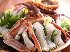 Sashimi, crabs