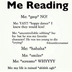 I feel bad for people who are in the same room with me when I'm reading…