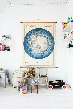 L'Antarctique dans une chambre de petit garçon