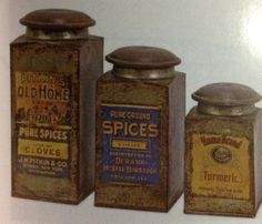 Old time spice cans, great for herbs or other. Coming soon to www.ZoellaWickensMysticalEssentials.com