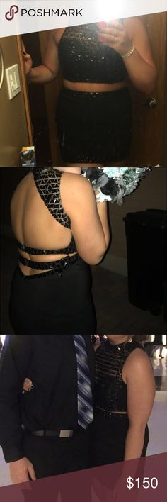 Black two piece dress Super sparkly and beautiful Dresses Prom