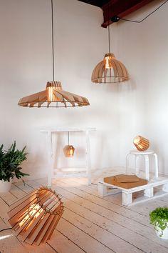 Created by Dutch design duo Van Tjalle en Jasper, the Laser-cut lamps is a circular pattern series lamp made up laser-cut mdf and Flat design. Laser Cut Lamps, Laser Cut Mdf, Laser Cutting, Lamp Shades, Light Shades, Light Fittings, Light Fixtures, Lamp Design, Lighting Design