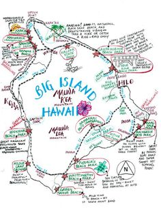 Oh to Honeymoon again :) Hawaii Camping Map