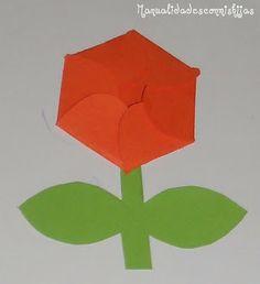 Manualidades con mis hijas: Flor tarjeta. Kids craft. Mother's Day. Flower card
