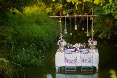 Purple and White Rustic and Romantic Wedding Inspiration