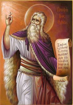 The Holy and Glorious Prophet Elijah the Tishbite (July 20 - Feast Day) (dude is awesome, and I say is because he is going to make a reappearance in the end times. Byzantine Art, Byzantine Icons, Religious Icons, Religious Art, The Transfiguration, Orthodox Christianity, Day Book, Catholic Saints, Jesus Is Lord