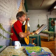 My charming Mr. Spouse Boy making lovely sounds in the studio during a 3rd Sunday event at Whiting Mills in sunny Winsted, Connecticut.