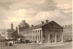 Quincy Market, Boston,1825-6. Alexander Parris, architect. From Josiah Quincy's History of Boston, 1830.