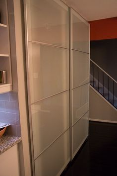 Ikea Pax system as sliding closet doors